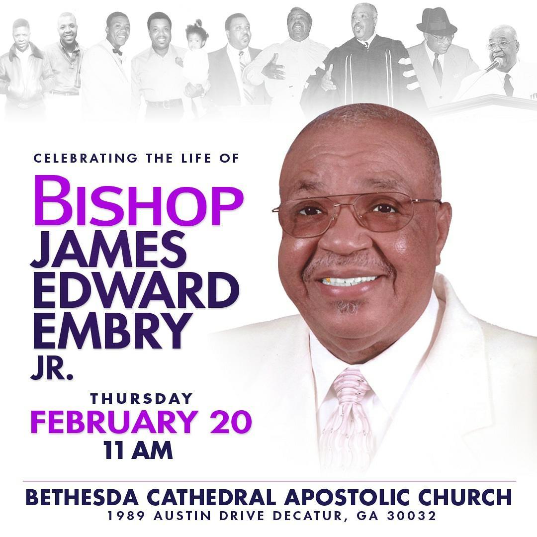 Homegoing Celebration for Apostle James E. Embry, Jr.